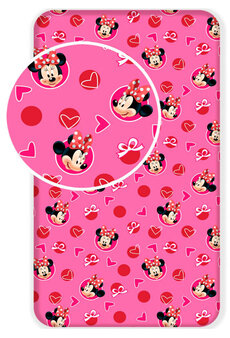 Plachta Minnie Mouse hearts 02 90x200 cm